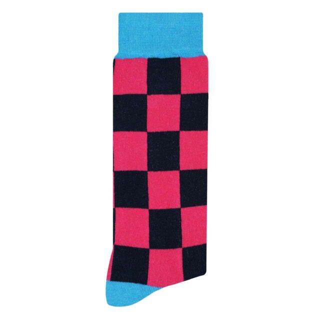 Calcetín Gris Oxford con Puntos de Colores | Skunk Socks
