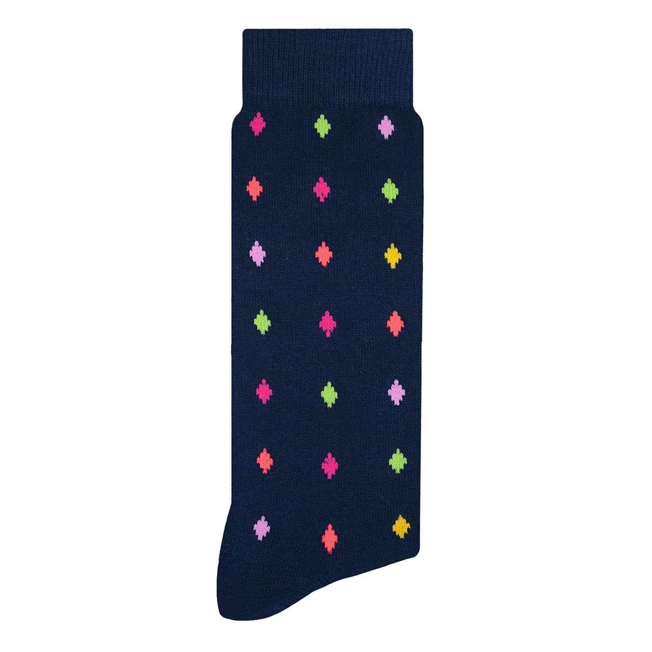 calcetin-de-rombos-azul-marino-skunk-socks