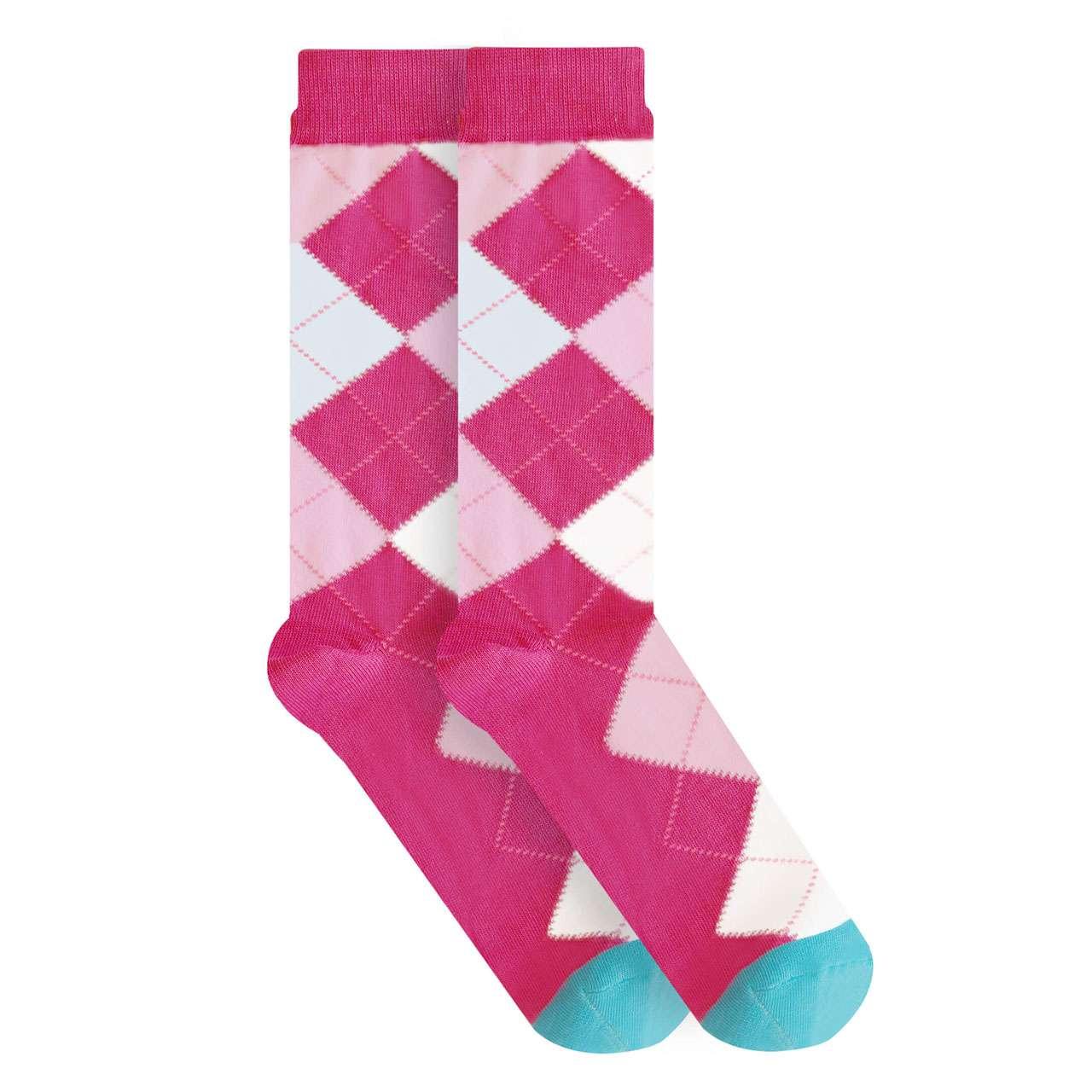 calcetin-de-rombos-rosa-skunk-socks