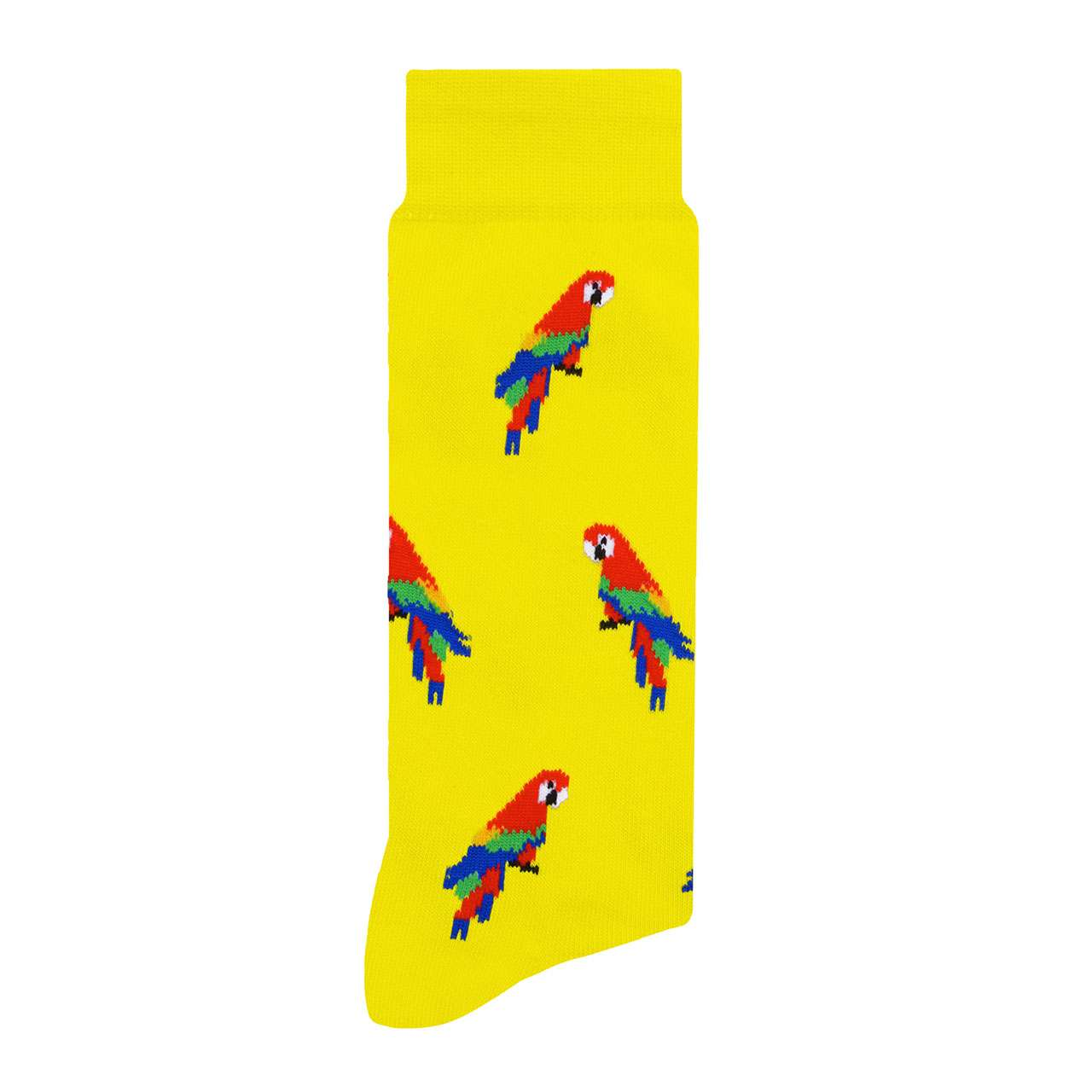 Guacamayas Amarillo Calcetín con Diseño Estampado