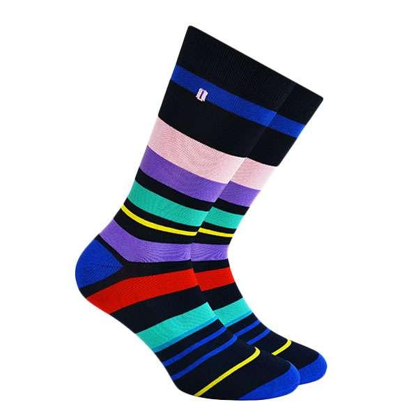Stripes Calcetín con Diseño de Colores