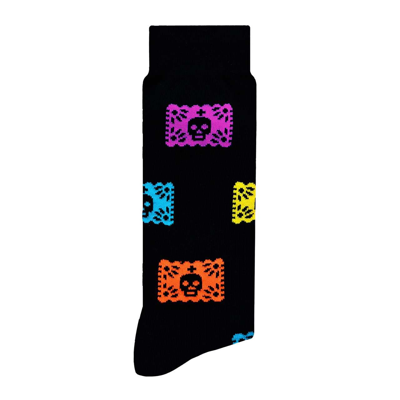 Papel Picado Calcetín con Diseño Mexicano