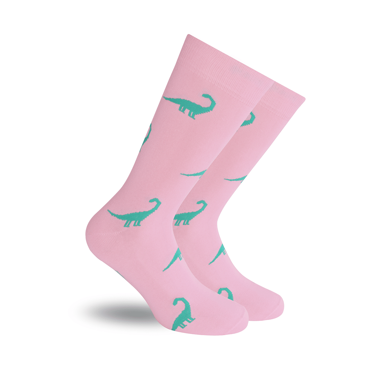 Dinosaurios Rosa Calcetín Estampado