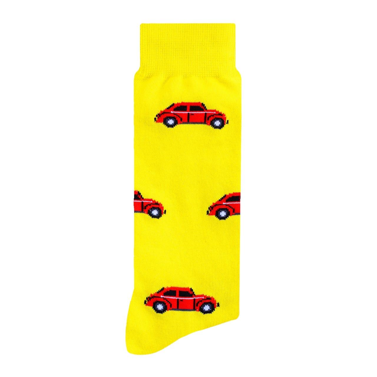 Bocho Amarillo Calcetín Estampado