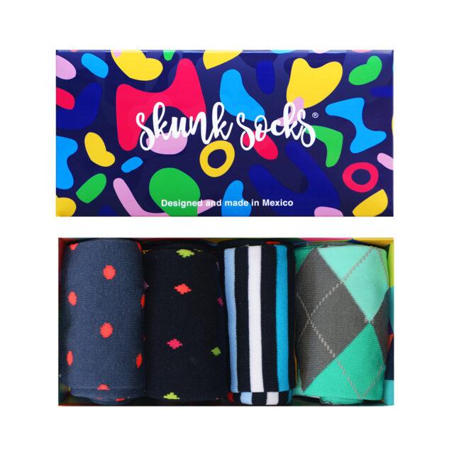 Paquete 4 Calcetines Diseños Divertidos