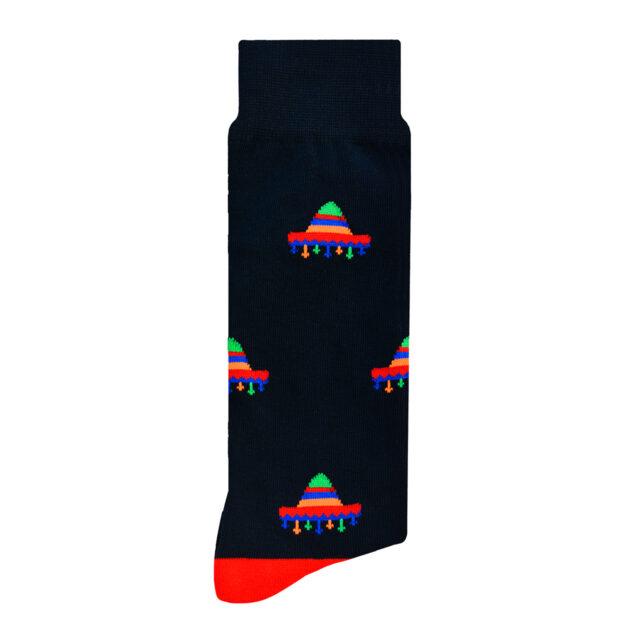 Calcetín Diseño Mexicano Sombrero Mexa