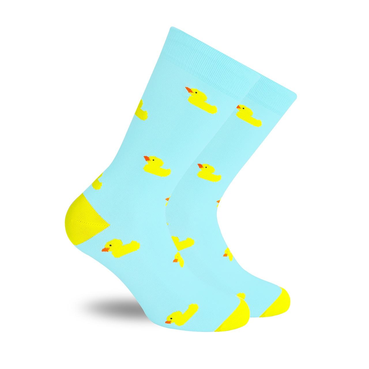 Patito de Hule Aqua calcetines divertidos