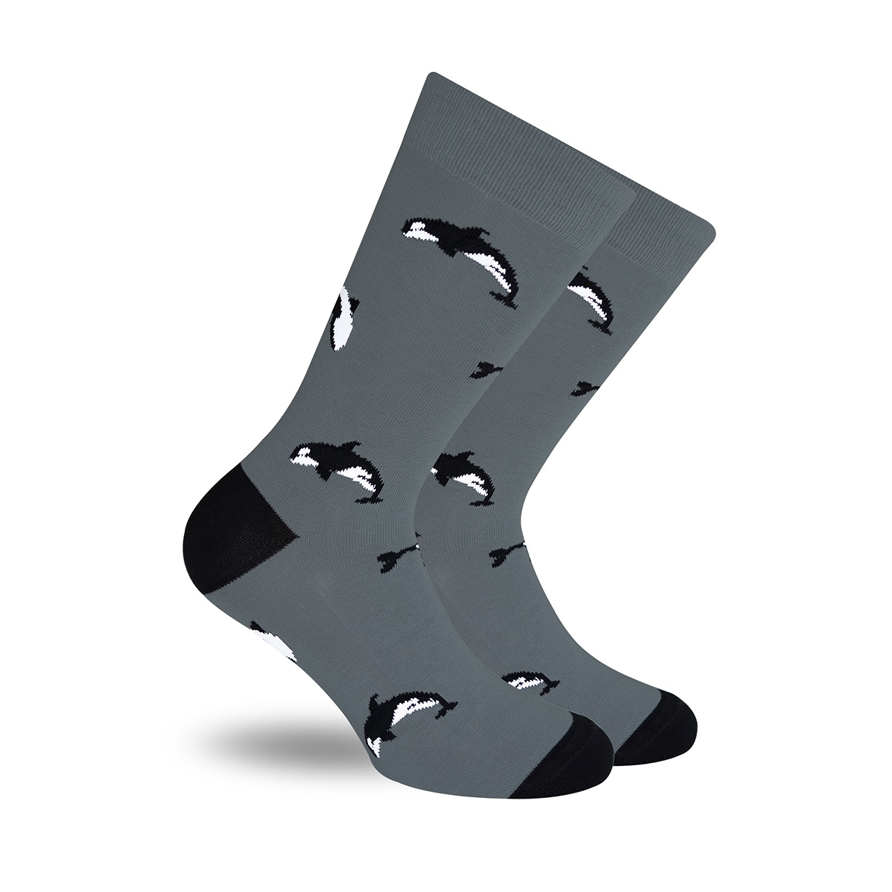 Orcas Gris calcetines divertidos